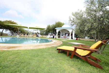 villa avec piscine  dans une vaste ferme - Mrezga - Nature lodge