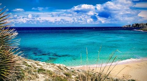Cala Mesquida, sea views 80 mts to the beach, pool