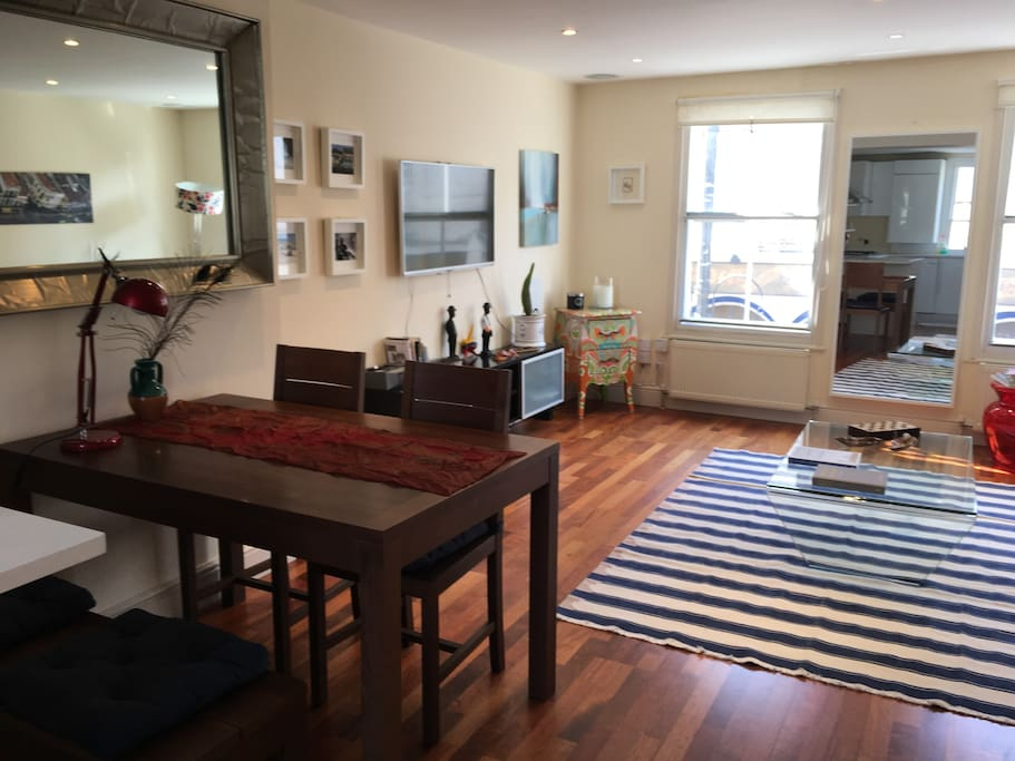 View of living room from the kitchen