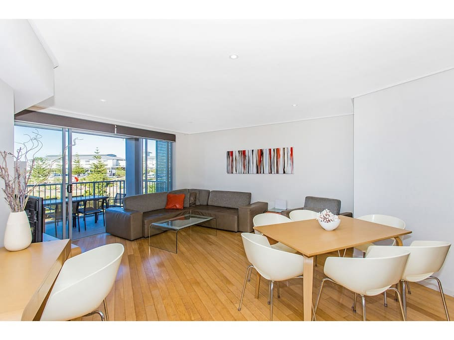 Lounge room and dining area