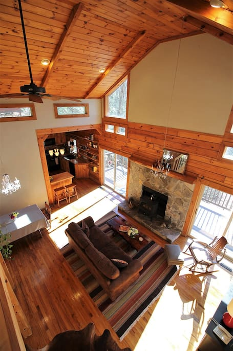 The large living area as seen from the loft
