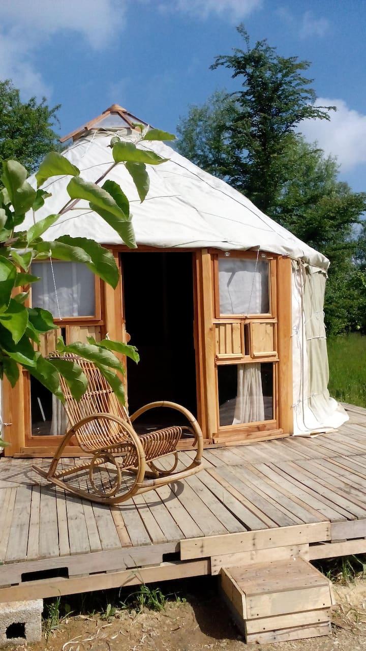 Yurt  in an organic garden near Venice