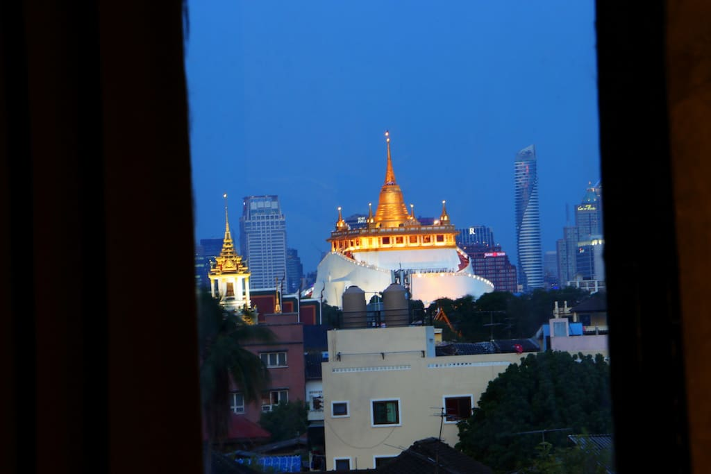 View of Golden Mountain Temple