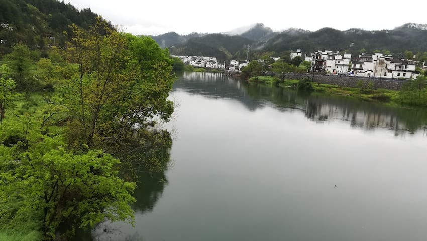 美丽的河景