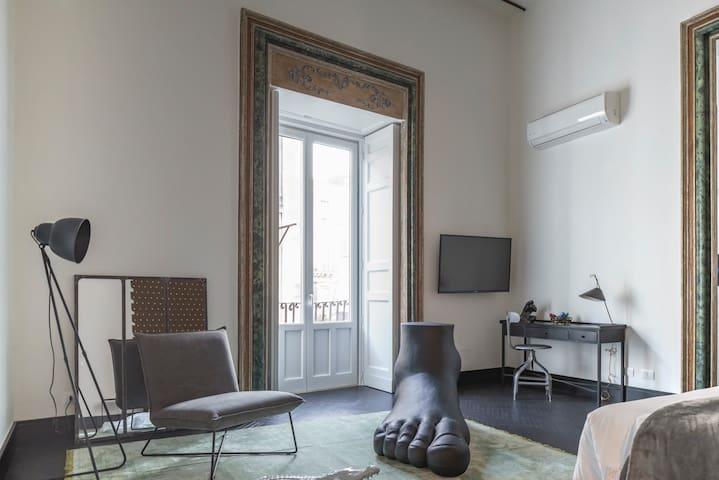 Art room centro storico Catania Uzeta - Catania - Boutique hotel