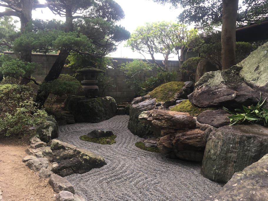 Japanese garden of guesthouse