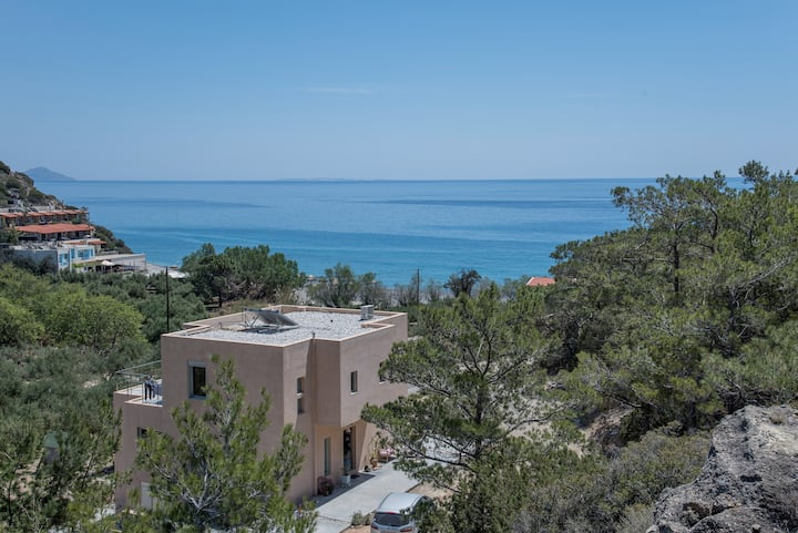 Agia Fotia Home with aView by the Beach