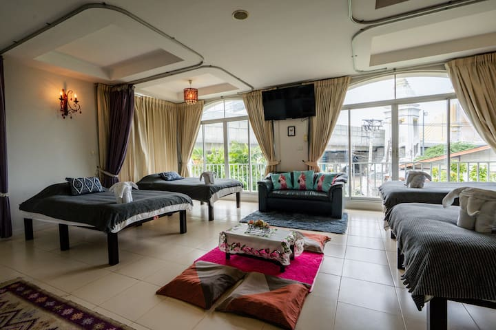 Private Group room + 1 free room (max for 7 pax)