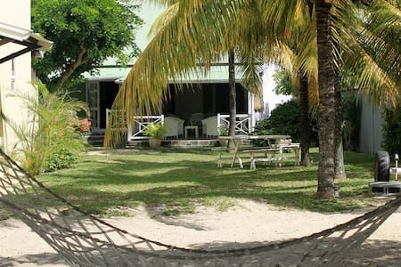 Traditional creole villa right on the beach - Villa