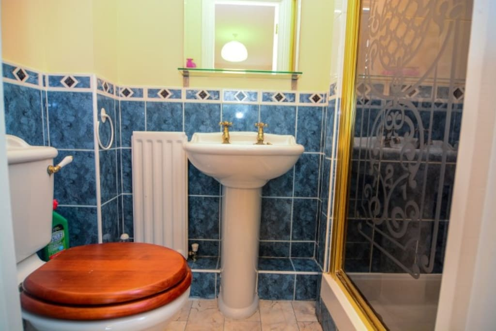 Private shower room with toilet