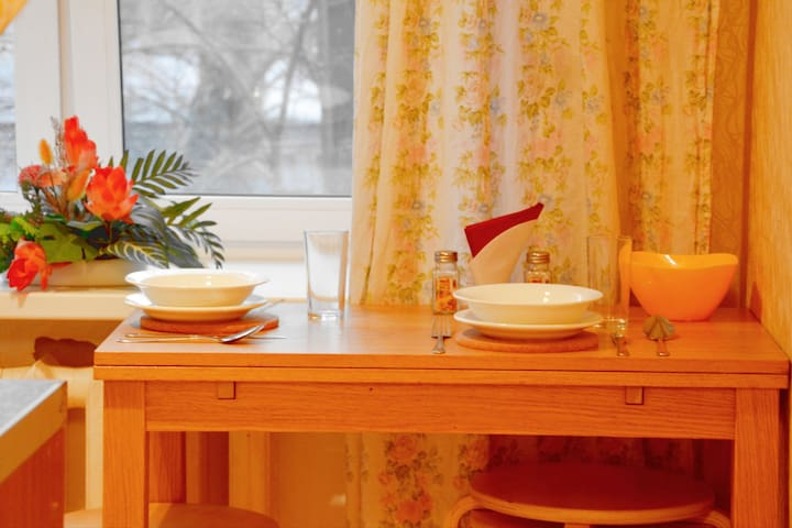 Уютная двухкомнатная квартира на Пролетарской - Moskva - Appartement