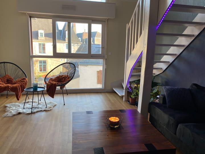 Duplex meublé en centre-ville