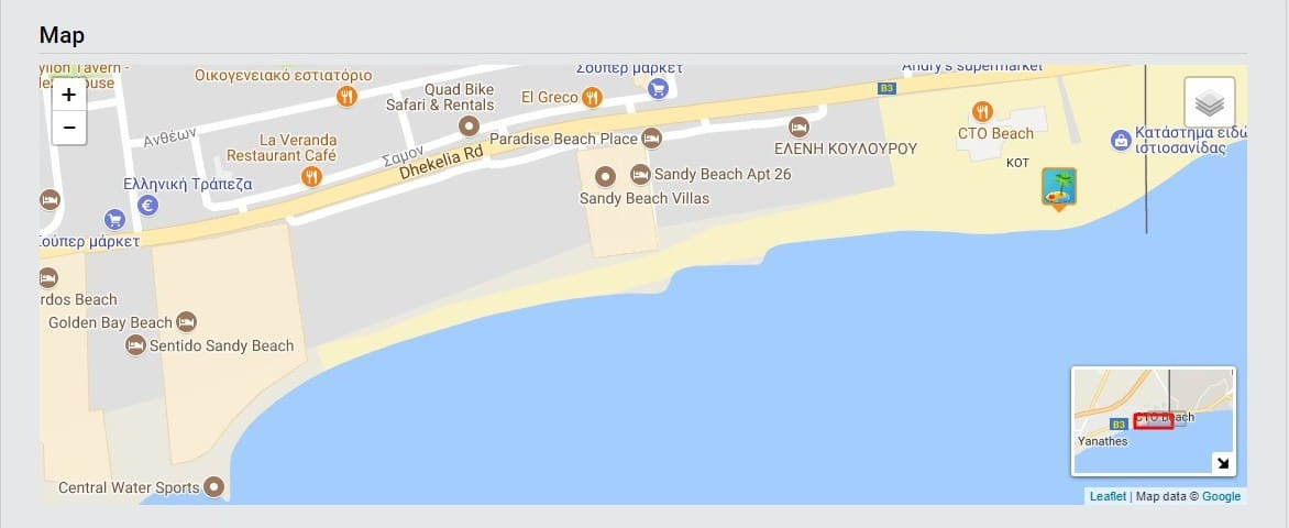 At about 300 meters is another beach front (CTO beach)