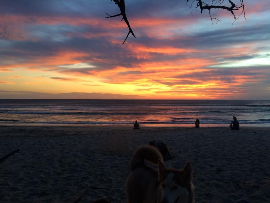 Playa Negra sunset