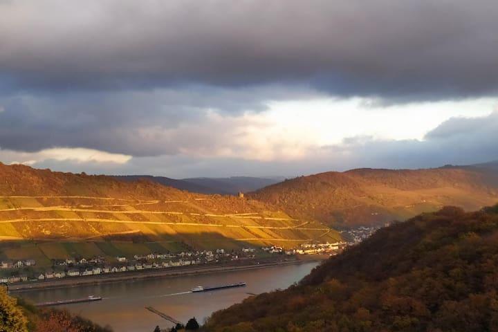 Schau-Rhein 2 - on Top of Bacharach with Rhineview