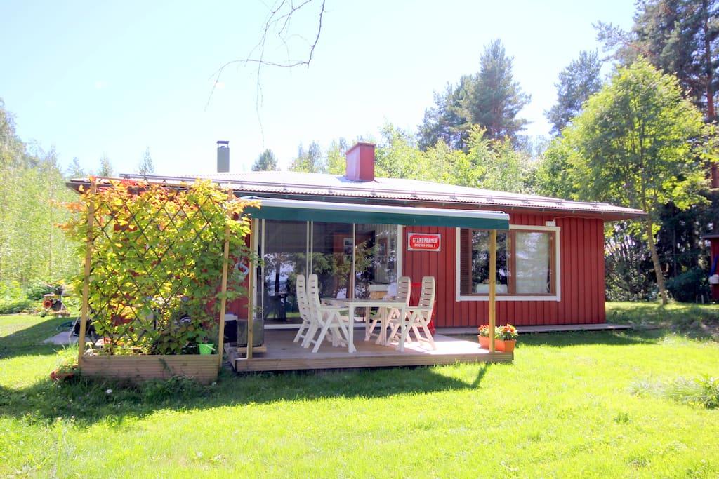 ferienhaus am see in finnland blockh tten zur miete in. Black Bedroom Furniture Sets. Home Design Ideas