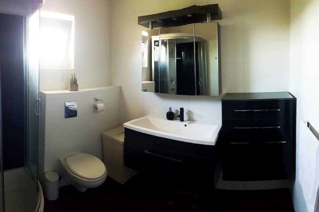 Bathroom with toilet.