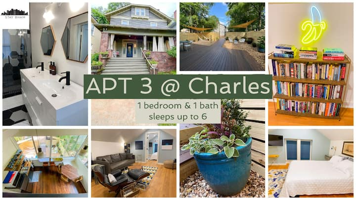 Apt3@Charles - Modern, Fun, Sun-Filled Loft, Walkable & Pet-Friendly with Amazing Outdoor Spaces
