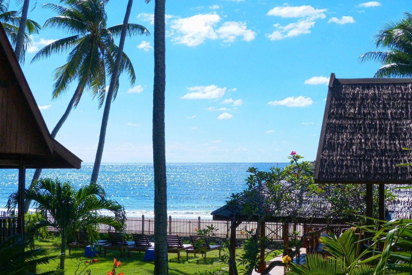 Beautiful sea views at Kaluku Cottages