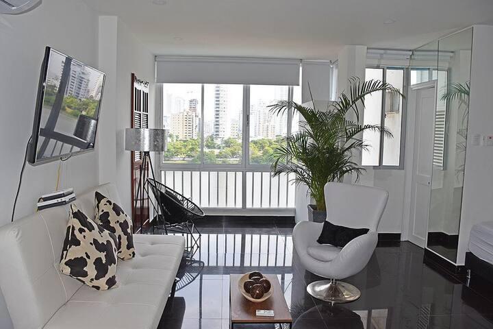 Apartamento con hermosa vista en el Laguito