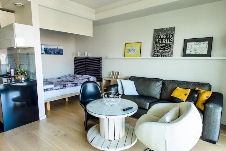 Apartament Young z tarasem