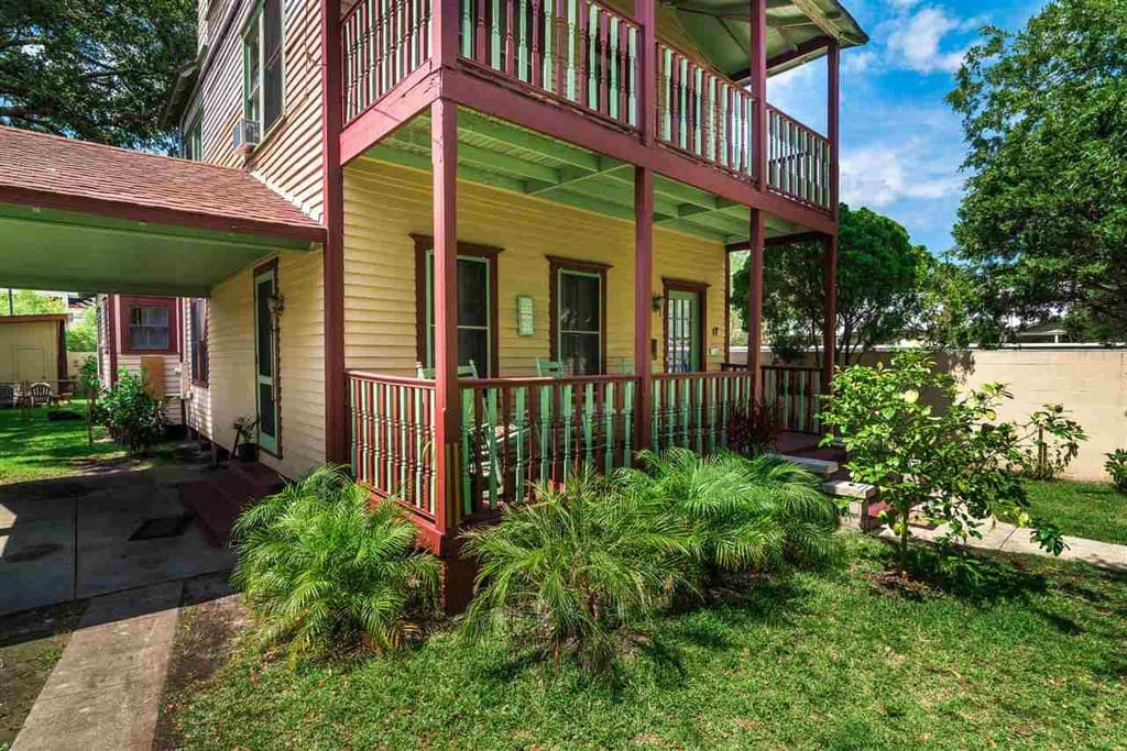The property is located within walking distance to most of the attractions and restaurants in the historic district.  A quintessential covered porch is the spot for morning coffee and evening cocktails where you'll start and end each day.