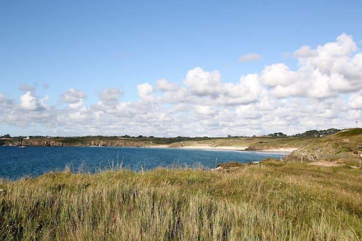 La plage des blanc sablons : surf, kite, paddle