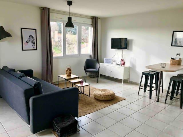 appartement cosy et lumineux dans résidence calme