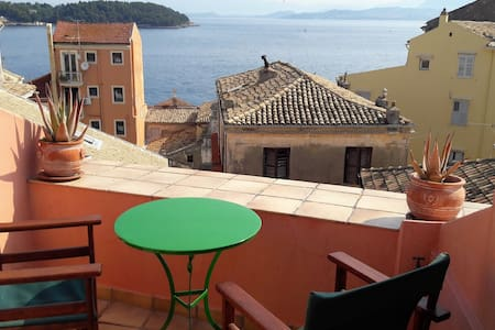 Room with a view to the old town of Corfu