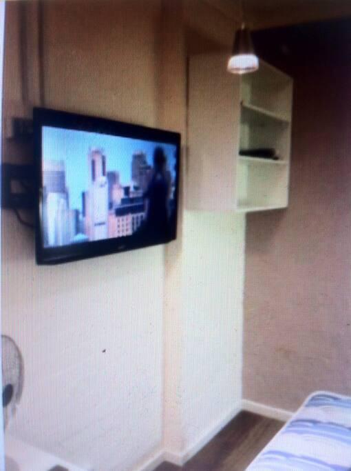 Bedroom and Plasma TV