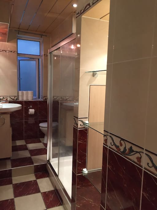 Double tray shower room