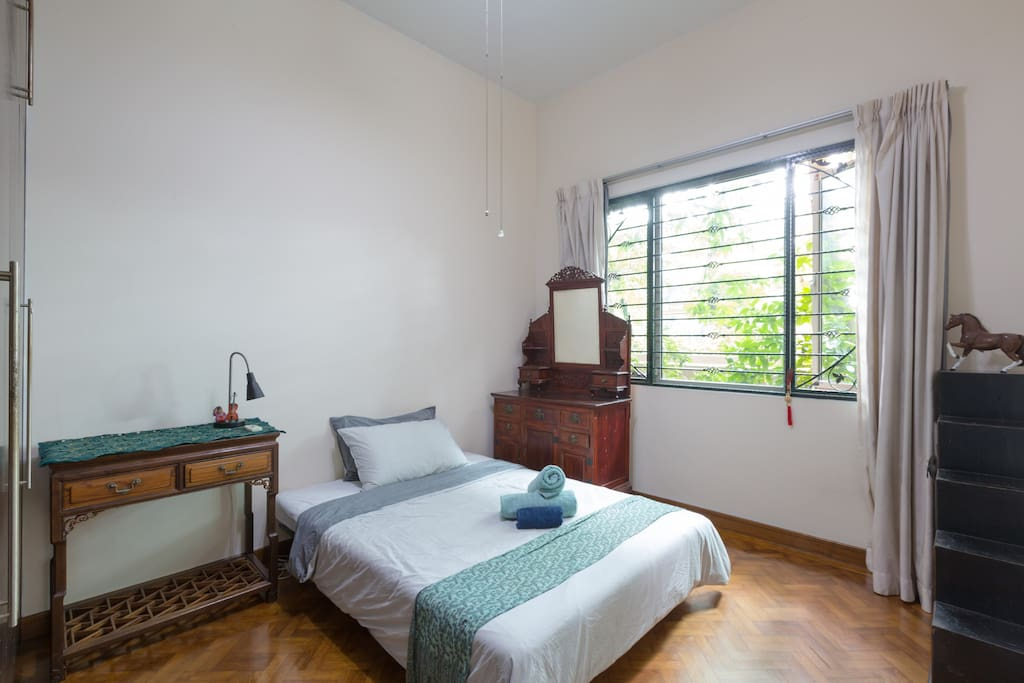 A second bedroom has a comfortable double sofa bed