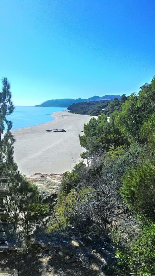 Spiaggia di Calaverde, a pochi minuti a piedi dalla casa