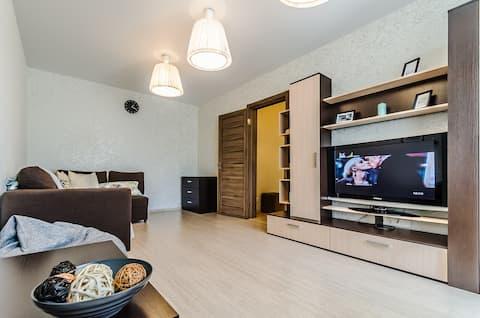 Apartment at Volga beach in the city center
