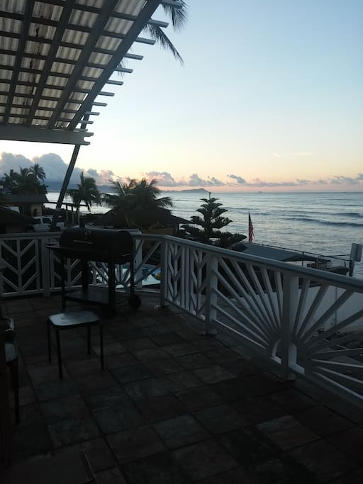 The view eastward at dawn