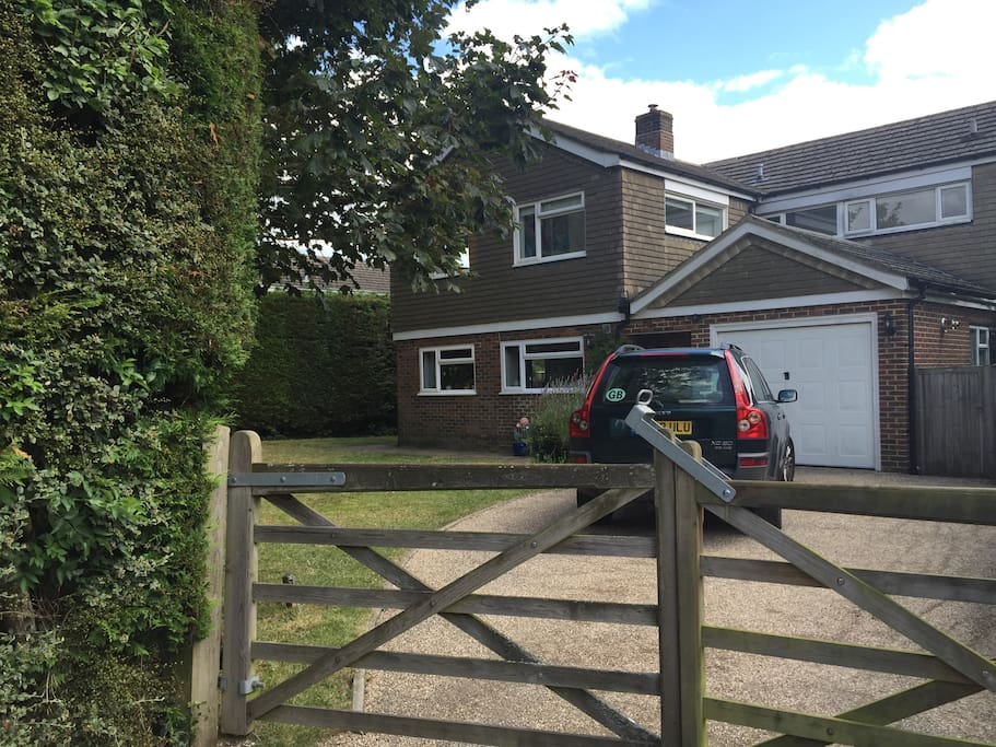 Front of house & drive for 3 cars