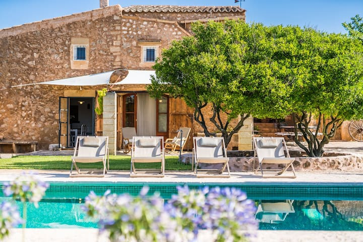 Romant. Finca CAN BORGES, Pool, Wifi, bis 6Pers