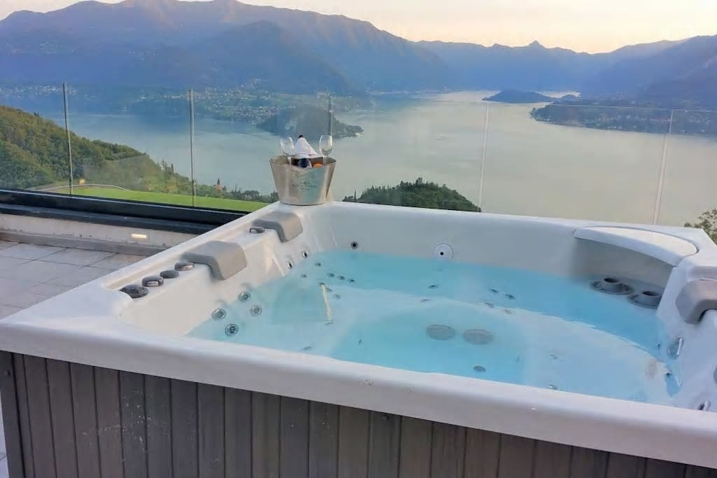 Jacuzzi shared with other residance guests