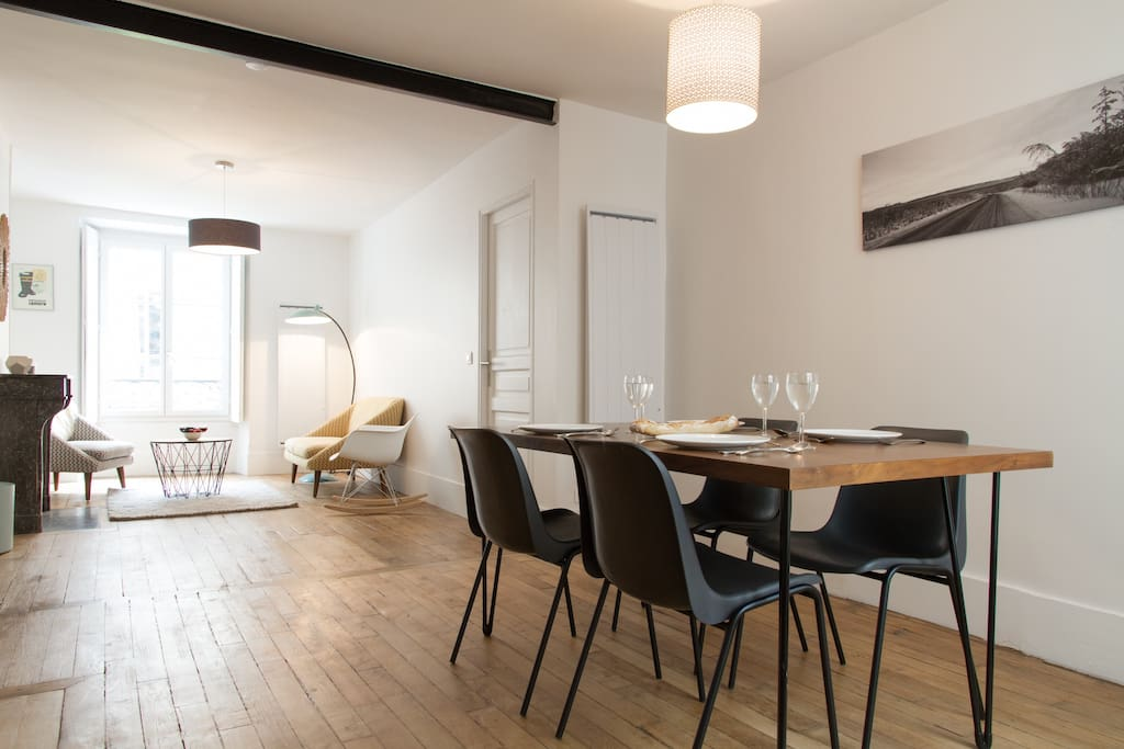 With beautiful wooden floors and tasteful decorations, you'll feel right at home