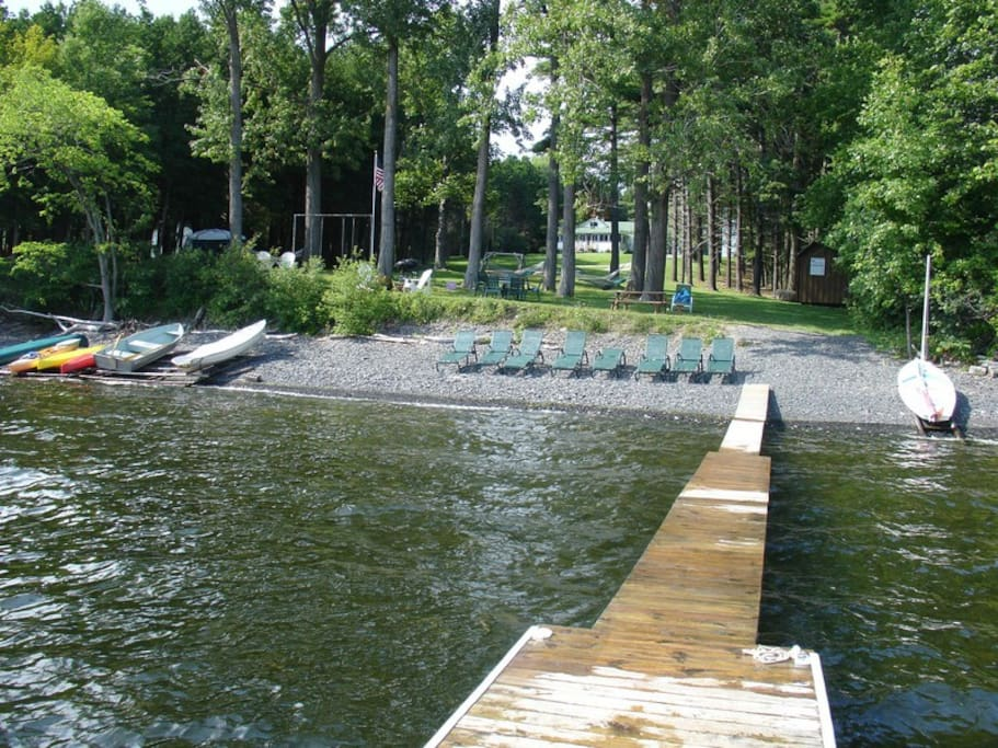 Dock and beach