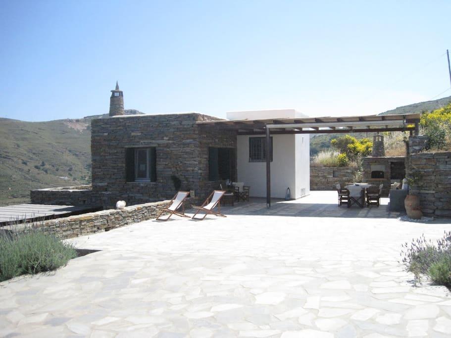 Entering the Villa