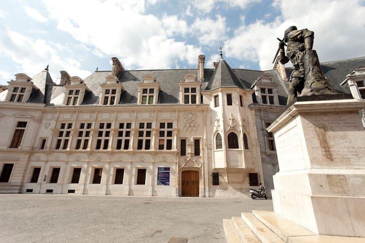 ... in front of the Parliament building   -   ... en face du Palais du Parlement