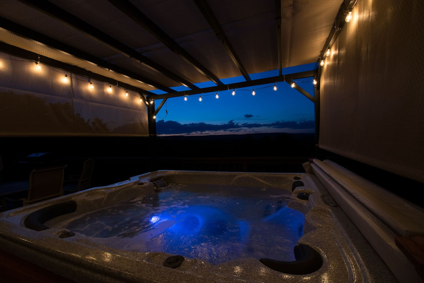 View from the Hot tub.
