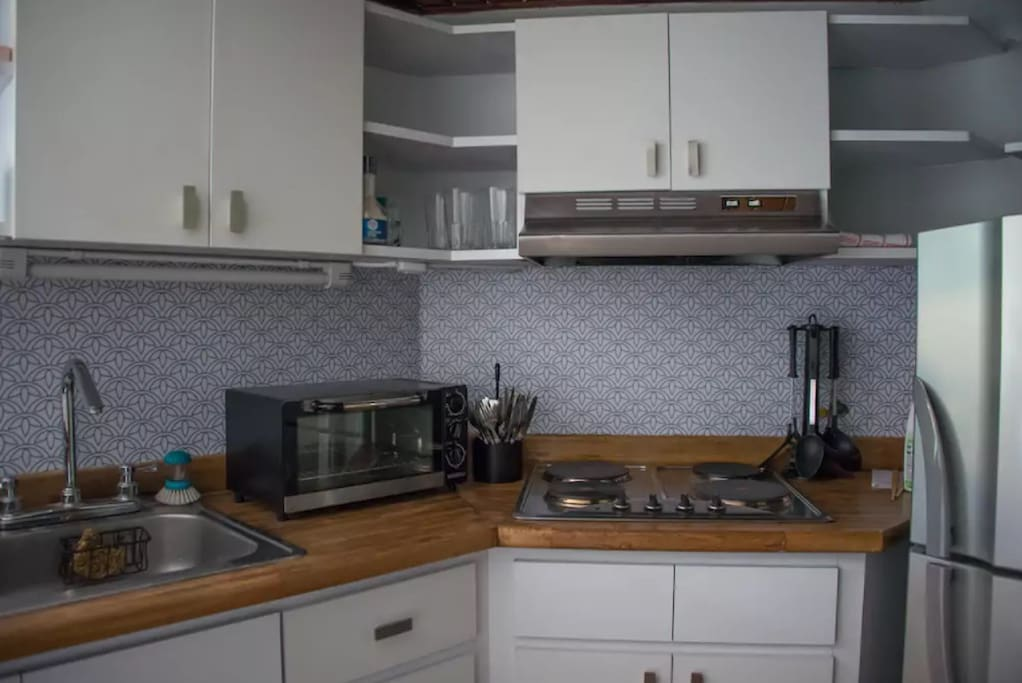 Kitchen with Toaster Oven
