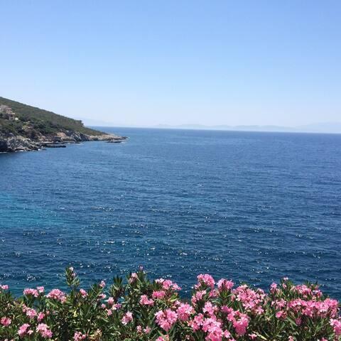 Sea view villa in Kusadasi - Bayraklıdede Mahallesi - Villa