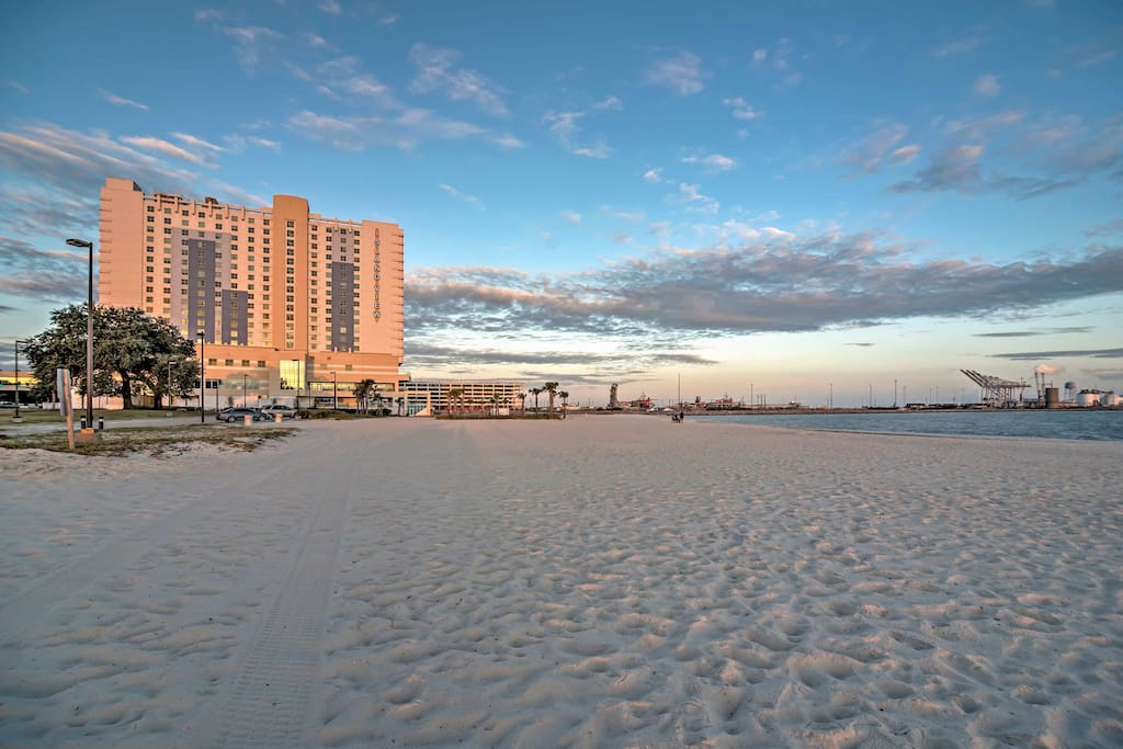 The beach is just 3 blocks from your home-away -from-home!