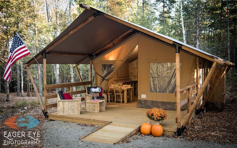 Private, secluded Glamping Bar Harbor, Americana