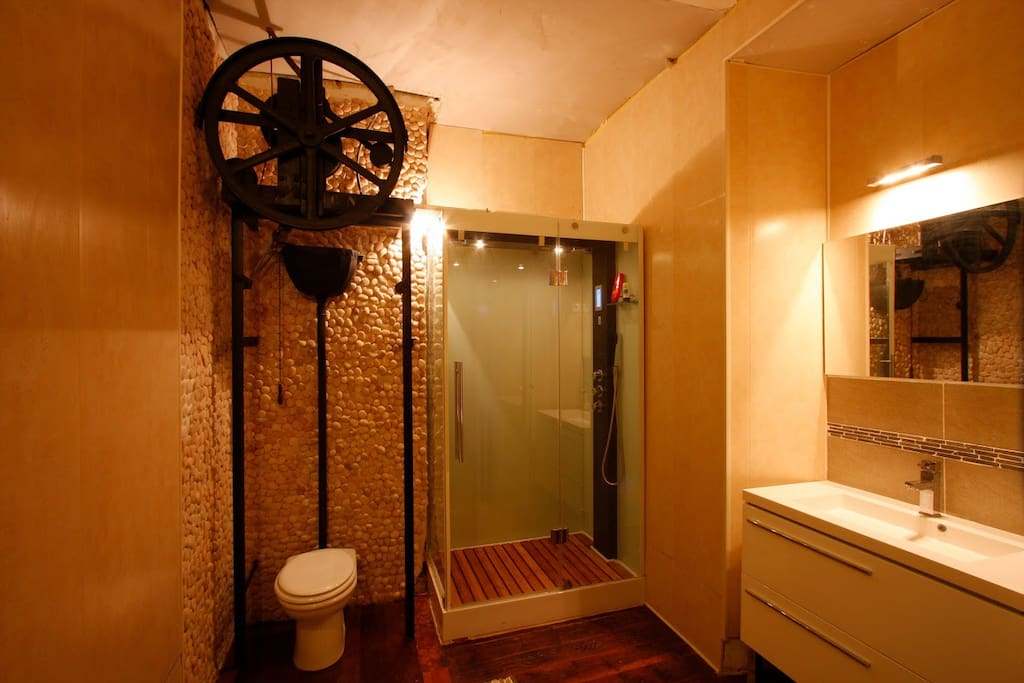 Bathroom with Power Massage Shower