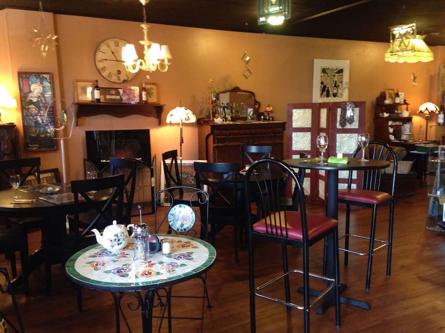 Enjoy our lower level tea, wine and craft beer lounge.