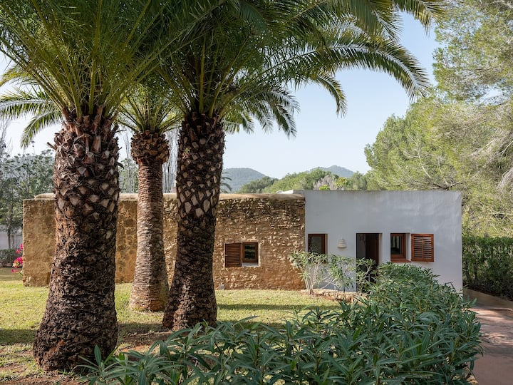 Artsy bungalow in 15 mins from Evissa